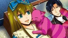 heart no kuni no alice wonderful twin world - - Yahoo Image Search Results Alice Liddell, Munchkin Cat, Traditional Stories, Like A Cat, World Images, Manga Love, Pink Cat, Anime Style, Manga Art