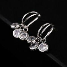 BAO CZ Stone Dangle Earring