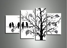 Black & White Nature Painting 221 - 50 x 30in
