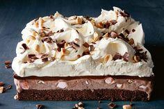 Rocky road ice-cream cake