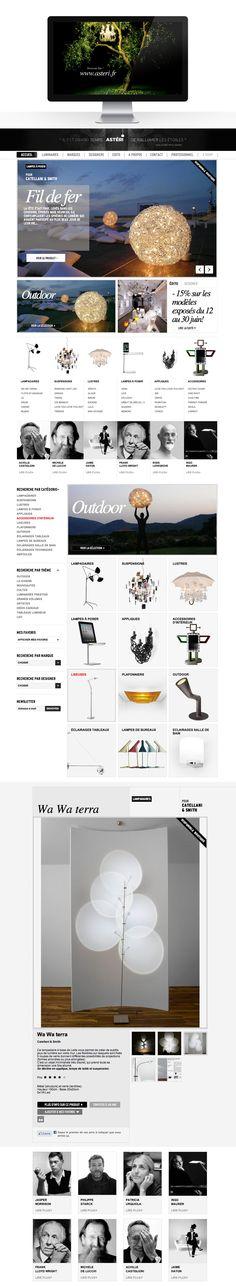 Asteri  Website by Le Ciel Etait Rose