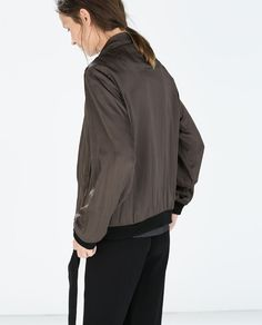 FLOWY BOMBER JACKET WITH PIPING