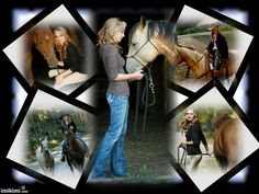 Amber Marshall with her horses