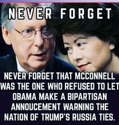 These Two Crooks are a Disgrace. trump has all but Shit on McConnell's head and he still takes it so he can push Republicans harsh agenda through. It hasn't been easy when you have a Certified Nut at the top!! Republicans are Exploding and they deserve everything trump dishes up to them! It's called Karma!!!