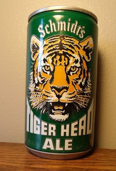 Vintage Schmidt's Tiger Head Ale Beer Can Empty Sealed Pull Tab Top Collactable
