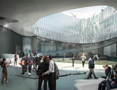 Seis propuestas para el Museo Nacional de la Memoria en Colombia,Patio interior. Image Cortesía de Célula Arquitectura