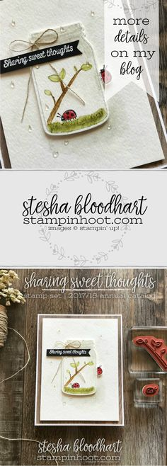 Sharing Sweet Thoughts Ronald McDonald House Charities Stamp Set by Stampin' Up!. Card created by Stesha Bloodhart, Stampin' Hoot for the Spring has Sprung Pals Blog Hop #steshabloodhart #stampinhoot