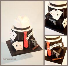 Al-Capone, Mafia, Gangster cake  http://www.fleurdesucre.ch
