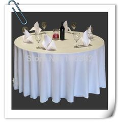"Whole Sale 70"" White 20pcs Polyester plain table cloth 210GSM For Wedding Events &Hotel&Banquet Free  shipping!"