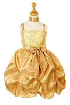 $40.00 gold sequin size 2 Christmas dress