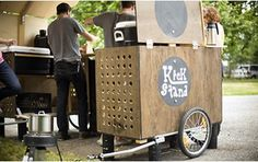 Bicycle-powered delivery cart, Kickstand Coffee uses 2 of these, delivered by bike, to set up their coffee stand.