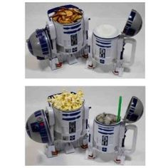 SO CUTE!!! Disney Star Wars R2-D2 Plastic Popcorn Bucket & Drink Stein Set - Disney Parks Exclusive & Limited Availability - R2D2 $44