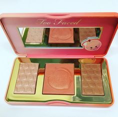 Sneak Peek: Too Faced Sweet Peach Glow Highlighter Palette for Spring 2017 #makeup
