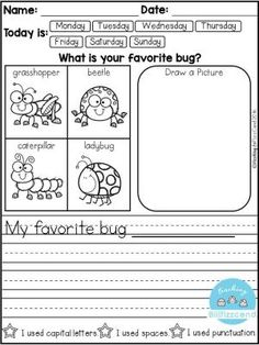 FREE 10 Kindergarten Writing Prompts with 2 option (A total of Pages). With sentence starters and without sentence starters for advance writers. This pack is great for beginning writers or struggling writers in kindergarten and in first grade to bu Kindergarten Writing Prompts, Daily Writing Prompts, Work On Writing, Opinion Writing, Persuasive Writing, Kindergarten Reading, Writing Workshop, Teaching Writing, Writing Activities