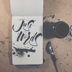 Just For Fun by Joan Quirós | hand lettering typography design inspiration brush script