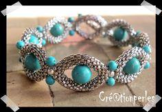 Peyote Bracelet. Seed Beads.