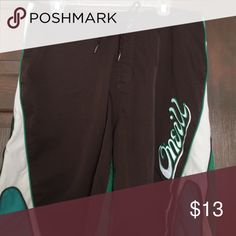 O'Neill boardshort Brown and green. Old school style O'Neill Swim Board Shorts