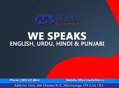 Medx Clinic Serve You With Their Highly Professional Doctors & Staff Having Commands On Many Language. For Any Cause Consult With us Today. Call: 289-521-8844 Or Call: 289-521-8845 #Health #Wealth #MedX #Clinic #Consultation #Pharmacy #Cause #Health #Sick #Illness #Solution