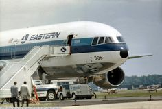N305EA, 1972 Lockheed L-1011-193A TriStar C/N 1006, Lockheed's demonstrator after landing at Transpo 72 held at Dulles Intnl Airport.