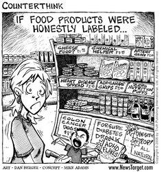 Do you think processed food sales would go down if our foods were all honestly labeled? Thanks Food Renegade and Gilbert Farmers Market for the picture! Scary Food, Do It Yourself Food, Lemonade Diet, Fit Life, Real Life, Crazy Life, Food System, Tips & Tricks, Food Facts