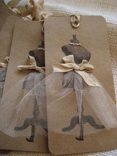 Handmade gift tags add a personal touch.