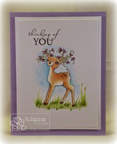 Stampin with Inky Fingers: A deer for every season... #ADFD #ADayForDaisies #Spring