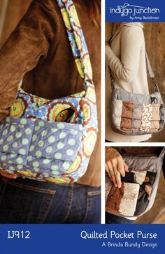Quilted Pocket Purse sewing pattern from Indygo Junction