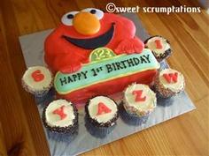elmo cakes First Birthday Parties, Birthday Cakes, First Birthdays, Birthday Ideas, Elmo Cake, Party Cakes, Cake Ideas, Paper Crafts, Party Ideas
