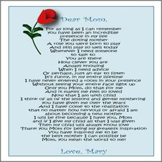 Letter Mother From Daughter Wedding Day Poem For Mom Birthday Images Amp Pictures Becuo