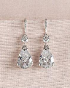 Crystal Bridal Earrings Wedding Earrings by CrystalAvenues