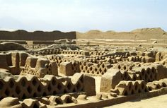 The ruins of Chan Chan in Peru. The biggest pre-columbian city in South America