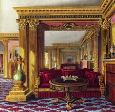The Golden Drawing Room, Carlton House , London Interior Rendering, Interior Design, Home Room Design, House Design, Carlton House, Regency Era, Vintage Interiors, Beautiful Buildings, Beautiful Places