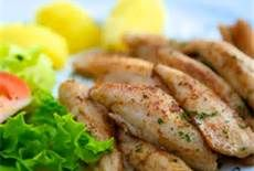 Lemon Perch 1/4 c. butter, 2 tbsp lemon juice, 1/2 tsp salt, 1/4 tsp dill weed and 1 lb perch.  Melt butter then add seasonings, place fish in skillet, cook and voila` ....DELICIOUS!!!