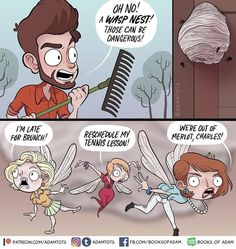 """Adam Ellis' Comics Are Taking A Weird Turn And We Like It - Funny memes that """"GET IT"""" and want you to too. Get the latest funniest memes and keep up what is going on in the meme-o-sphere. Comics Story, Fun Comics, Tumblr Funny, Funny Memes, Hilarious, Jokes, Adam Ellis Comics, Sarah's Scribbles, 4 Panel Life"""