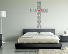 Typography Christian Cross  PRAY  Wall Decal by thewalldecalshopuk, £15.99