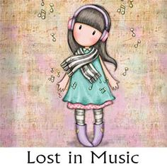 Lost in music Santoro London, Copics, Cute Dolls, Cute Illustration, Illustrations, Cute Cartoon, Cute Drawings, Cute Wallpapers, Paper Dolls