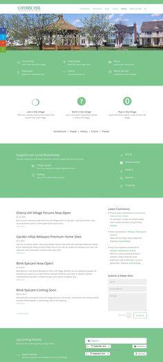 WordPress site cherryhillvillage.org uses the Divi Child wordpress theme