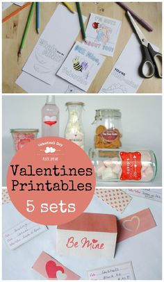 Valentines Day Printables : Gift Tags, Cake Toppers, Labels and more! - In The Playroom