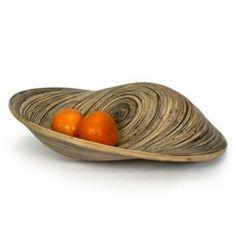 asymmetrical  Natural Bamboo Fruit Bowl