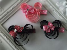 Minnie Mouse Ribbon Sculpture Hair Cllip