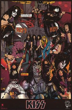 KISS did it all - music, movies, and comic books! This great poster features a…
