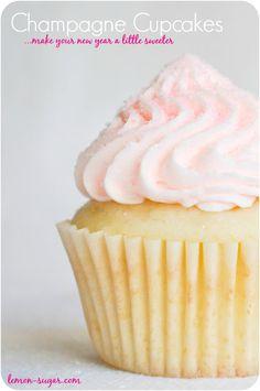 Champagne Cupcakes | www.lemon-sugar.com