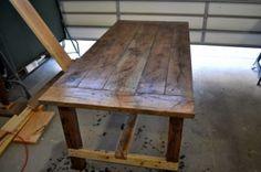 distressed table vinegar and steel wool