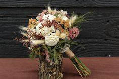 Petite Rustic Wedding Flower Girl Bouquet by SmokyMtnWoodcrafts