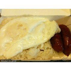 #ランチ#弁当#longsilog#longanisa#bentou#egg#food#philippines#フィリピン