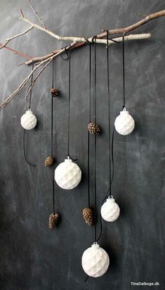 Christmas balls and leather butter on branch like raw Christmas decorations . - Little things Christmas - Water- Christmas balls and leather butter on branch like raw Christmas decorations . - Little things Christmas - Water- Decoration Christmas, Minimalist Christmas, Noel Christmas, Scandinavian Christmas, Christmas Balls, Xmas Decorations, Christmas And New Year, Christmas Crafts, Christmas Ornaments