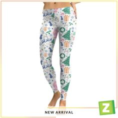 New Arrival Fashion Christmas Gifts Pattern Elastic Waist Sports Leggings Shop online for women's latest fashion clothing. Dresses, tops, bottoms, shoes, accessories & more . Tribal Print Leggings, Printed Leggings, Green Leggings, Women's Leggings, Sports Leggings, Workout Leggings, Latest Fashion Clothes, Latest Fashion For Women, 3d Christmas