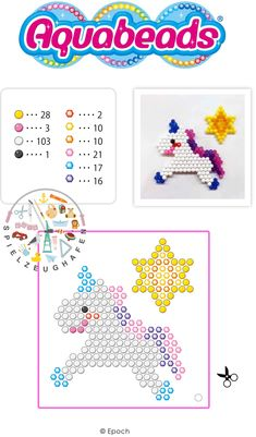 The colorful aquabeads: Pick a motif and put the pearls in the craft … Perler Beads, Fuse Beads, Motifs Perler, Perler Patterns, Bead Crafts, Diy And Crafts, Crafts For Kids, Pony Bead Patterns, Beading Patterns