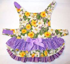 Easter Ruffled Layer Cake DOG Harness Dress Puppy dress with matching M/F set available