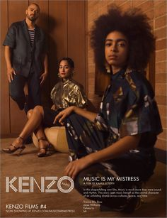 Kenzo enlists Jesse Williams, Kelsey Lu, and Tracee Ellis Ross to star in its spring-summer 2017 campaign.